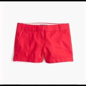 "J Crew 3"" Red Chino Shorts"